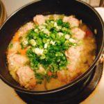 スープからリゾットへ変身?ほっこり温まる鶏団子スープ