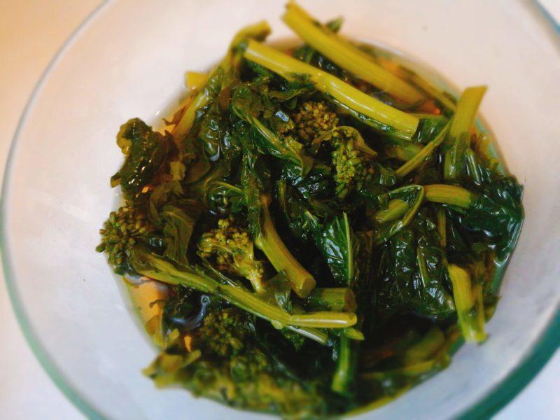 出汁と醤油で簡単!菜の花の煮びたし